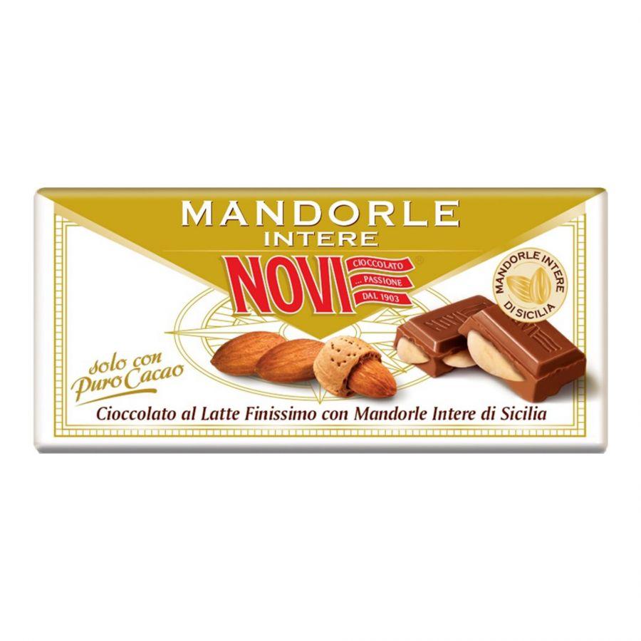 Novi Tavoletta Latte e Mandorle Intere di Sicilia 100g