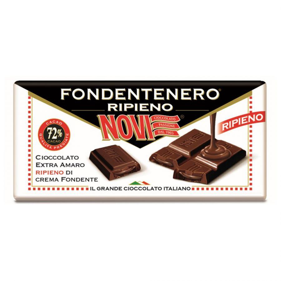Novi Tavoletta Fondentenero Ripieno 100g