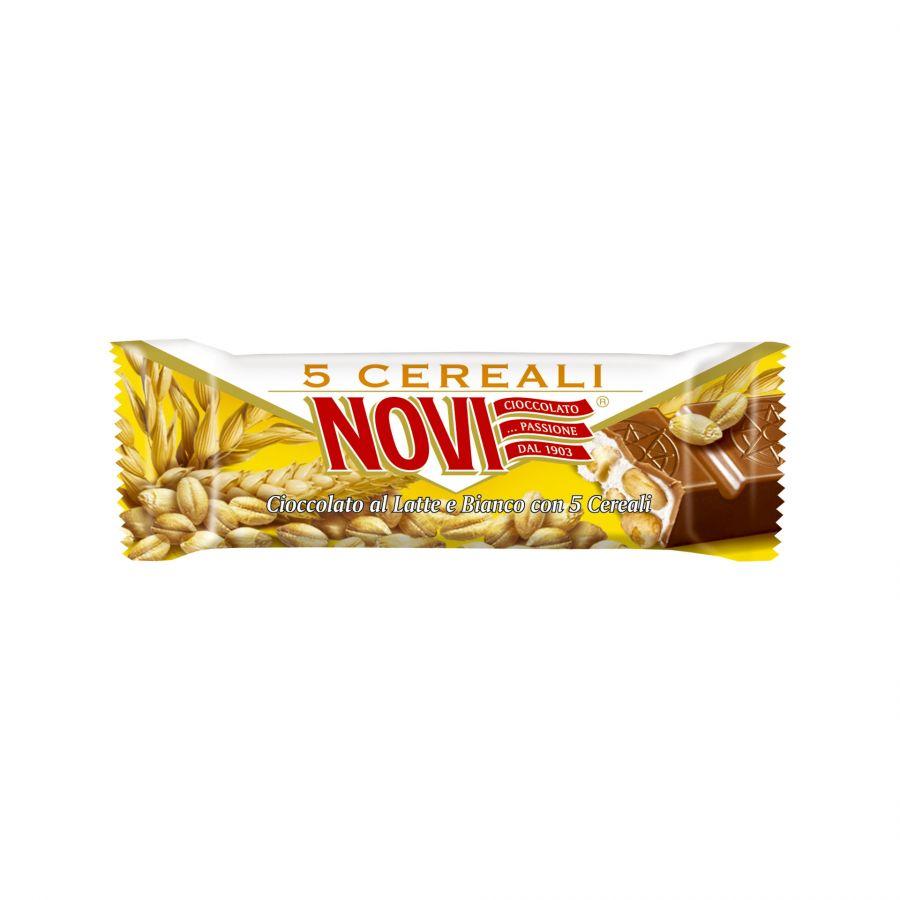 Barretta Cioccolato al Latte Novi e 5 Cereali 28g