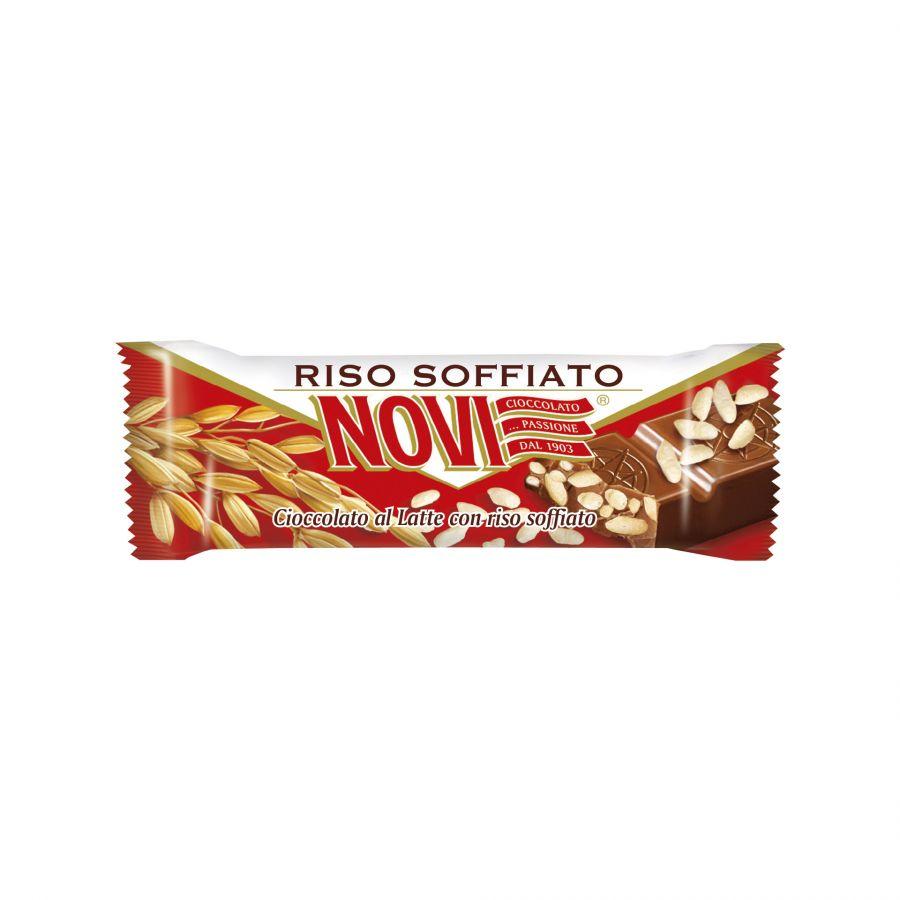 Barretta Cioccolato al Latte finissimo Novi con Riso Soffiato 21g