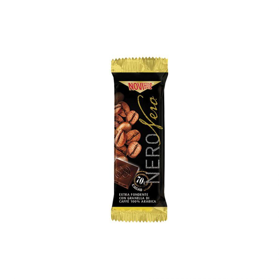 Barretta Novi Nero Nero con Granella di Caffè Arabica 22g