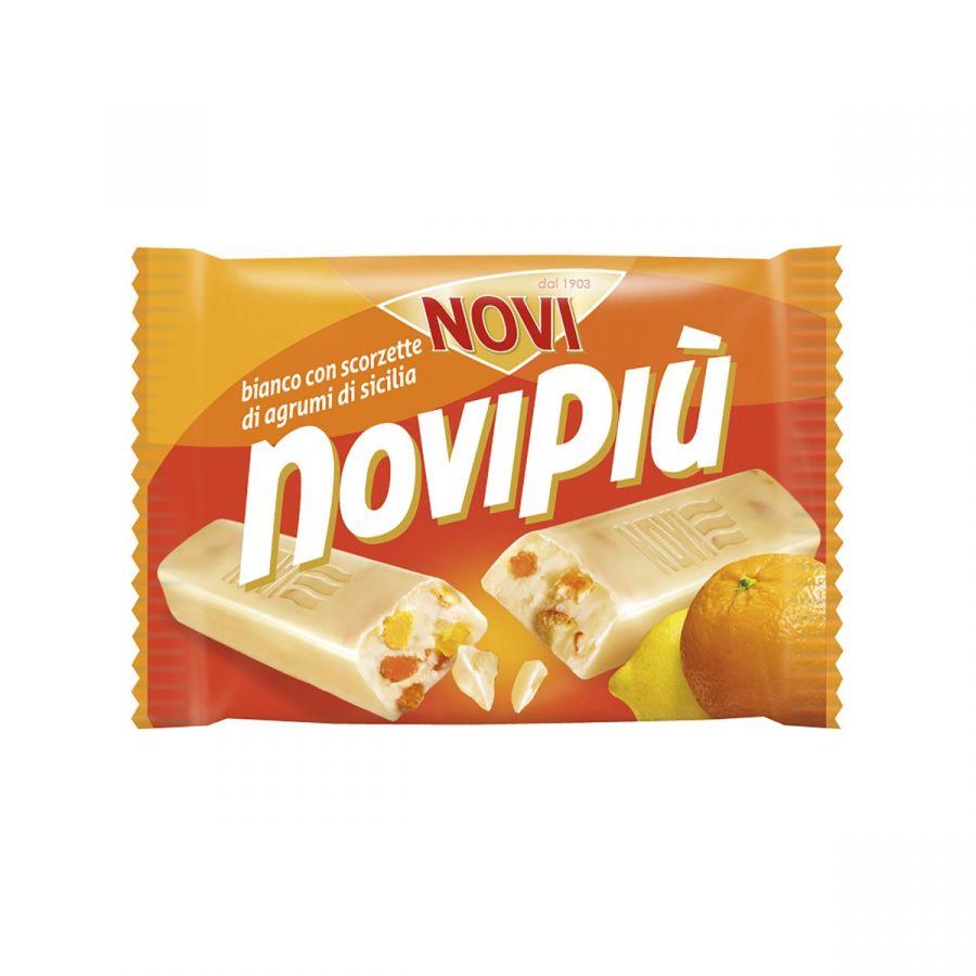 Novipiù Cioccolato Bianco e Scorzette d'agrumi 50g