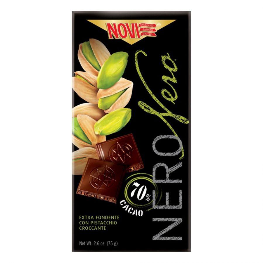 Nero Nero Extra Noir avec Pistaches Caramélisées 75g