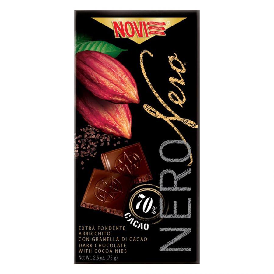 Novi Nero Nero con Granella di Cacao 75g
