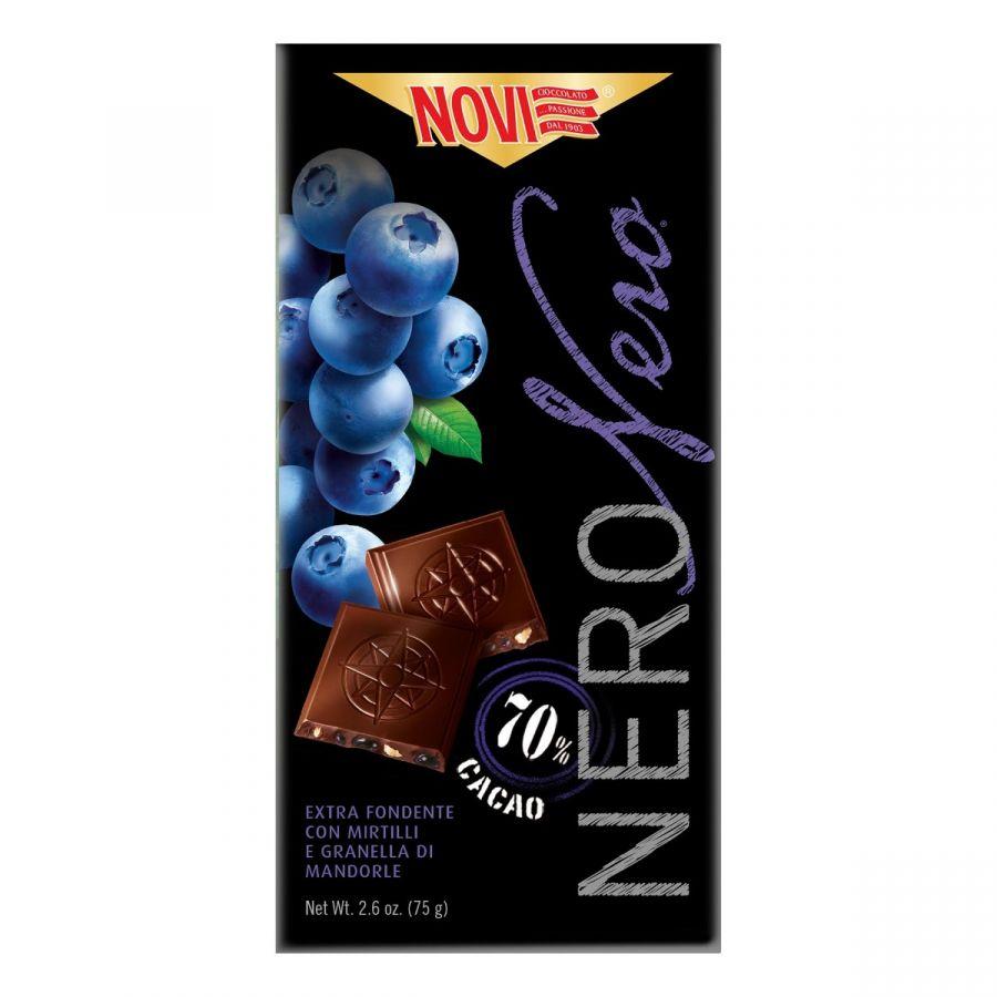 Novi Nero Nero Mirtilli e Mandorle 75g