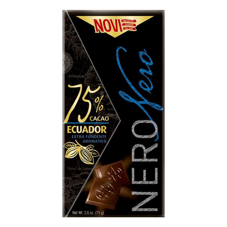 Novi Nero Nero 75% Cacao Ecuador 75g