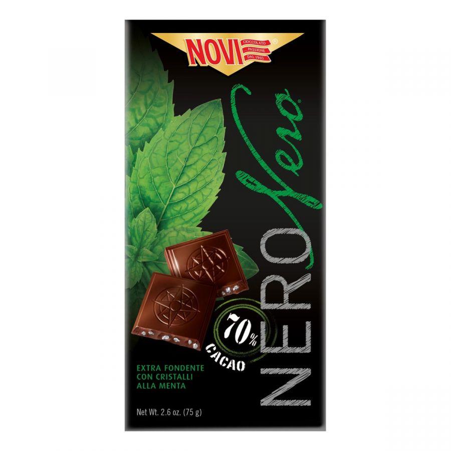 Novi Nero Nero con Cristalli di Menta 75g