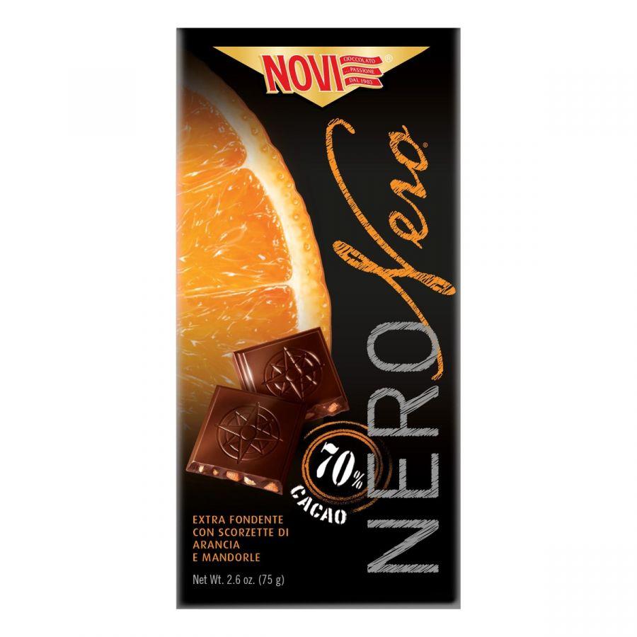 Novi Nero Nero Arancia e Mandorle 75g